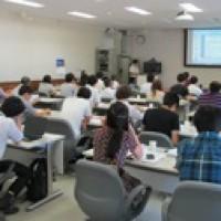 第6回日韓4部会合同サマースクールの講義風景